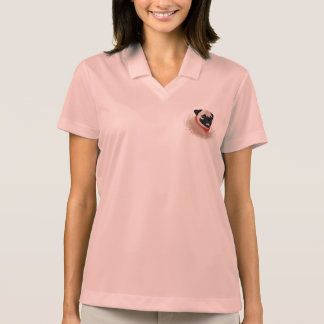 Pug cartoon polo shirt
