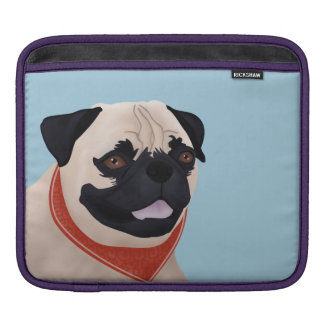 Pug Cartoon Sleeve For iPads
