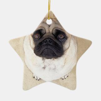 Pug Ceramic Ornament