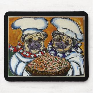 Pug Chef Mouse Pad