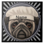 Pug Chef Tile