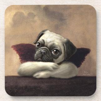 Pug Cherubs Inspired by Raphael Beverage Coasters