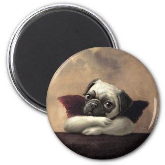 Pug Cherubs Inspired by Raphael Magnet