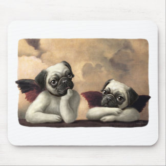 Pug Cherubs Inspired by Raphael Mouse Pad