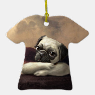 Pug Cherubs Inspired by Raphael Double-Sided T-Shirt Ceramic Christmas Ornament