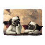 Pug Cherubs Inspired by Raphael Post Card