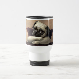 Pug Cherubs Inspired by Raphael Travel Mug
