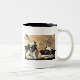 Pug Cherubs Inspired by Raphael Two-Tone Coffee Mug