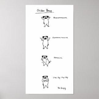 Pug Chicken Dance Posters