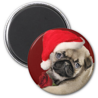 Pug Christmas Holiday Magnets