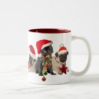 Pug Christmas Mugs