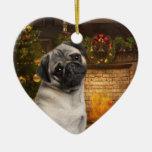 Pug Christmas Ornament