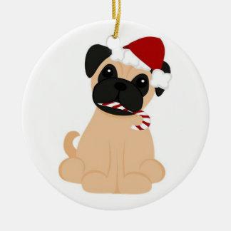 Pug-Christmas Ornament