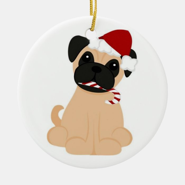 Pug-Christmas Ornament