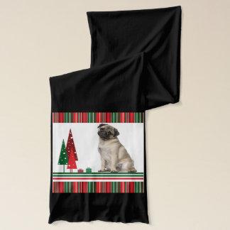 Pug Christmas Scarf