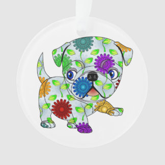 Pug Circle Ornament