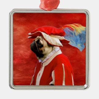 Pug Civil War Soldier Ornament