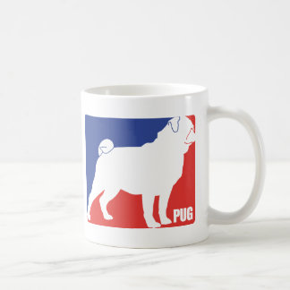 PUG CLASSIC WHITE COFFEE MUG