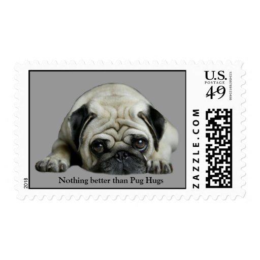 Pug Clown At Heart Postage Stamp