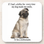 "Pug Coasters<br><div class=""desc"">These Pug Coasters are a great gift for any Pug lover.</div>"