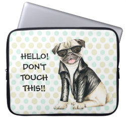 Neoprene Laptop Sleeve 15' with Pug Phone Cases design