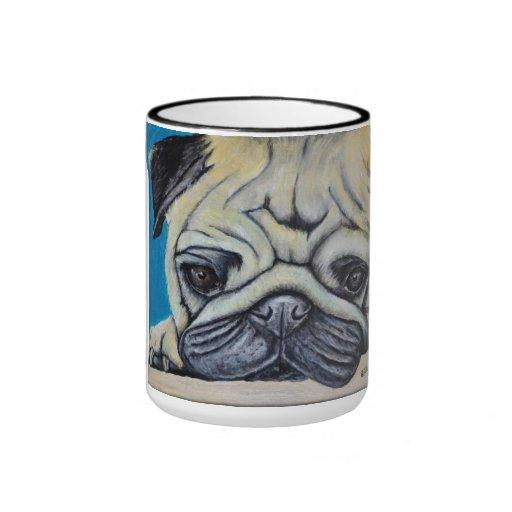 Pug cup ringer coffee mug