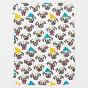 035ce1e5664 Pug – cute dog in Christmas Baby Blanket