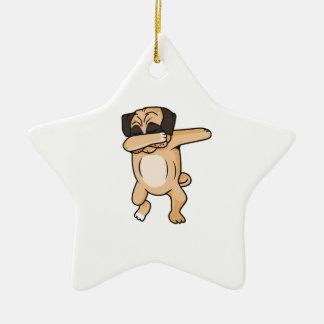 Pug Dab Ceramic Ornament