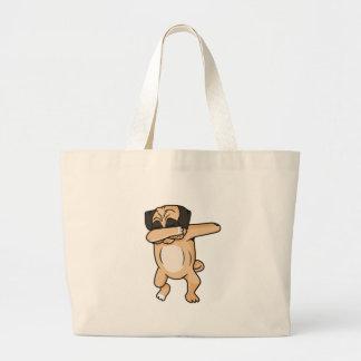 Pug Dab Large Tote Bag