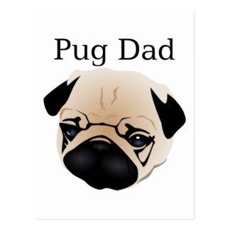 Pug Dad 1 Postcard