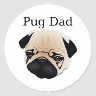 Pug Dad 1 Stickers