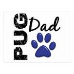 Pug Dad 2 Postcard