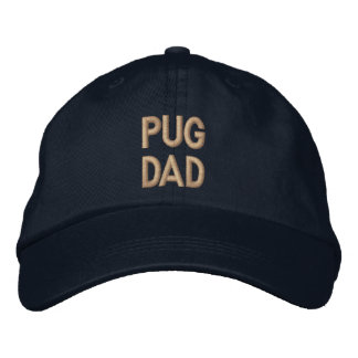 Pug Dad Embroidery Cap Embroidered Baseball Cap