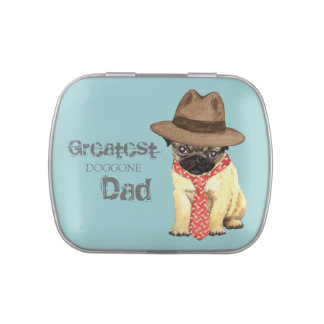 Pug Dad Jelly Belly Candy Tin