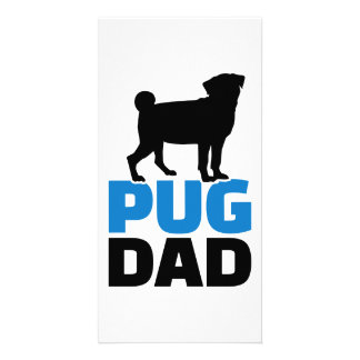 Pug Dad Personalized Photo Card