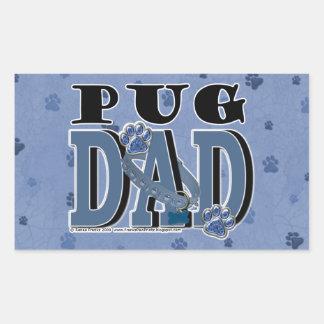Pug DAD Rectangular Sticker