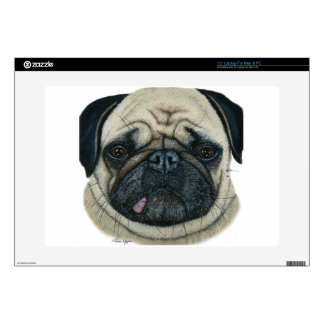 """Pug Decal For 15"""" Laptop"""