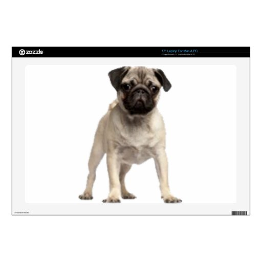 """Pug Decals For 17"""" Laptops"""