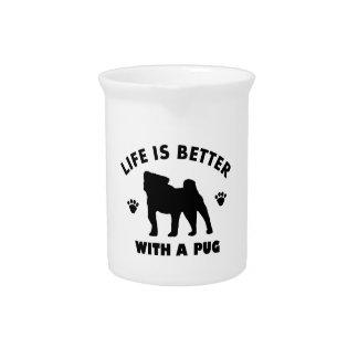 pug design beverage pitcher
