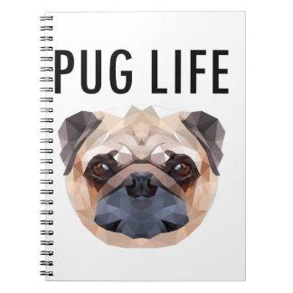 Pug Design Dog Unique Spiral Notebook