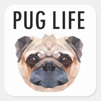 Pug Design Dog Unique Square Sticker