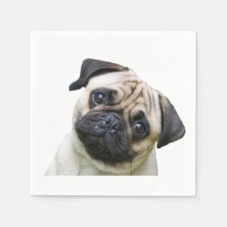 """Pug""design paper napkins"