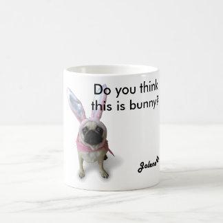 Pug dinghy one Bunny mosquito Classic White Coffee Mug