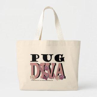 Pug DIVA Jumbo Tote Bag