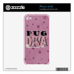 Pug DIVA Decals For The iPhone 4S