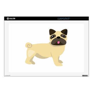 """Pug Dog 17"""" Laptop Skin"""