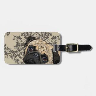 Pug Dog Abstract Pet Pattern Print Bag Tag