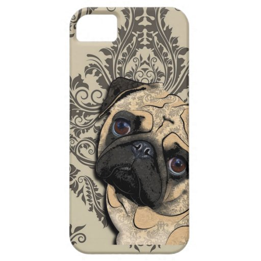 Pug Dog Abstract Pet Pattern Print iPhone 5 Cases