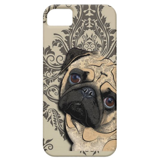 Pug Dog Abstract Pet Pattern Print iPhone SE/5/5s Case