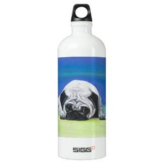 Pug Dog Aluminum Water Bottle